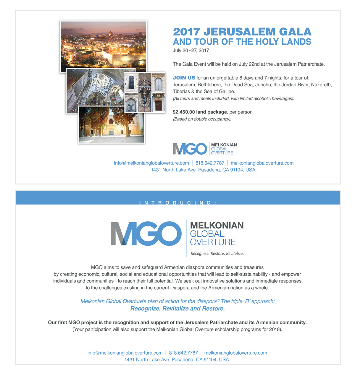 Melkonian Global Overture - Non-profit organization supporting Historical & Iconic Armenian Institutions